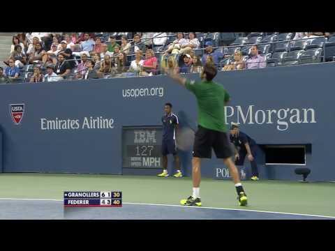 US Open 2014 Roger Federer vs Marcel Granollers