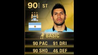 FIFA 14 SIF AGUERO 90 Player Review & In Game Stats Ultimate Team