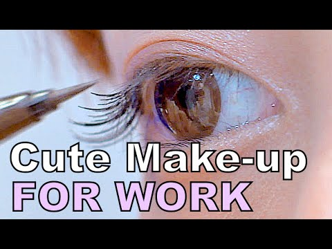 Cute WORKING LADY MAKEUP Tutorial by kawaii lolita fashion model Misako Aoki   青木美沙子のナチュラルメイク講座
