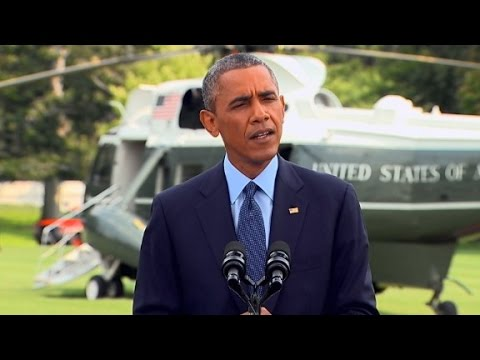 President Barack Obama responds to Russia\'s actions in Ukraine following the crash of Malaysia Airlines MH17.