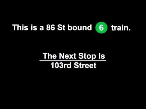 R142A 6 Train to 86th St Announcements [via Lexington Avenue Local]  (From 3rd Av to 86th St)
