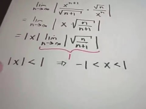 Power Series - Finding the Interval of Convergence