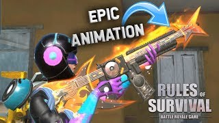 PULLING EPIC NEW SKINS + BONUS M4 ONLY GAMEPLAY! Rules of Survival