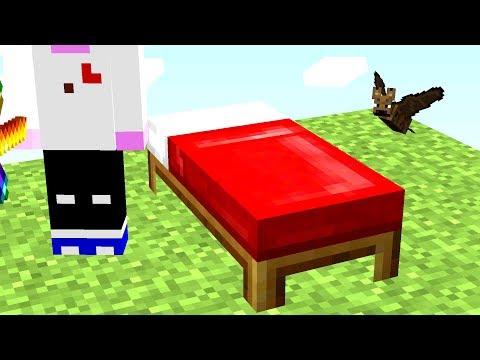 Ich baue sein Bett heimlich als Fledermaus ab😂💯.. Minecraft LUCKY BLOCK BEDWARS
