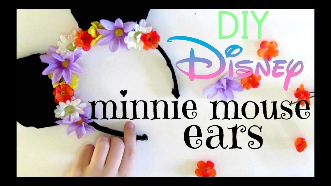 Diy disney minnie mouse ears youtube