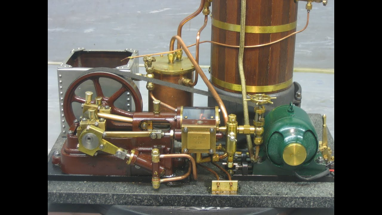 Model Steam Engine with Generator YouTube