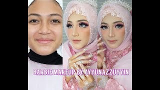 Makeup barbie | wedding hijab | Ayyunazzuyyin