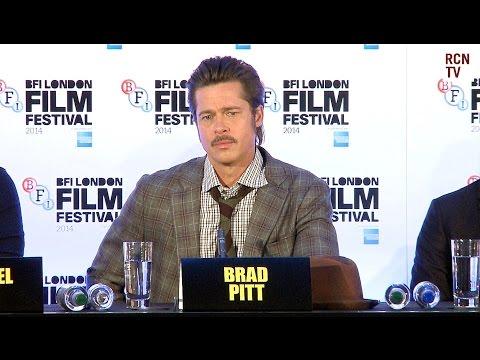 Fury Press Conference - Brad Pitt, Logan Lerman, David Ayer