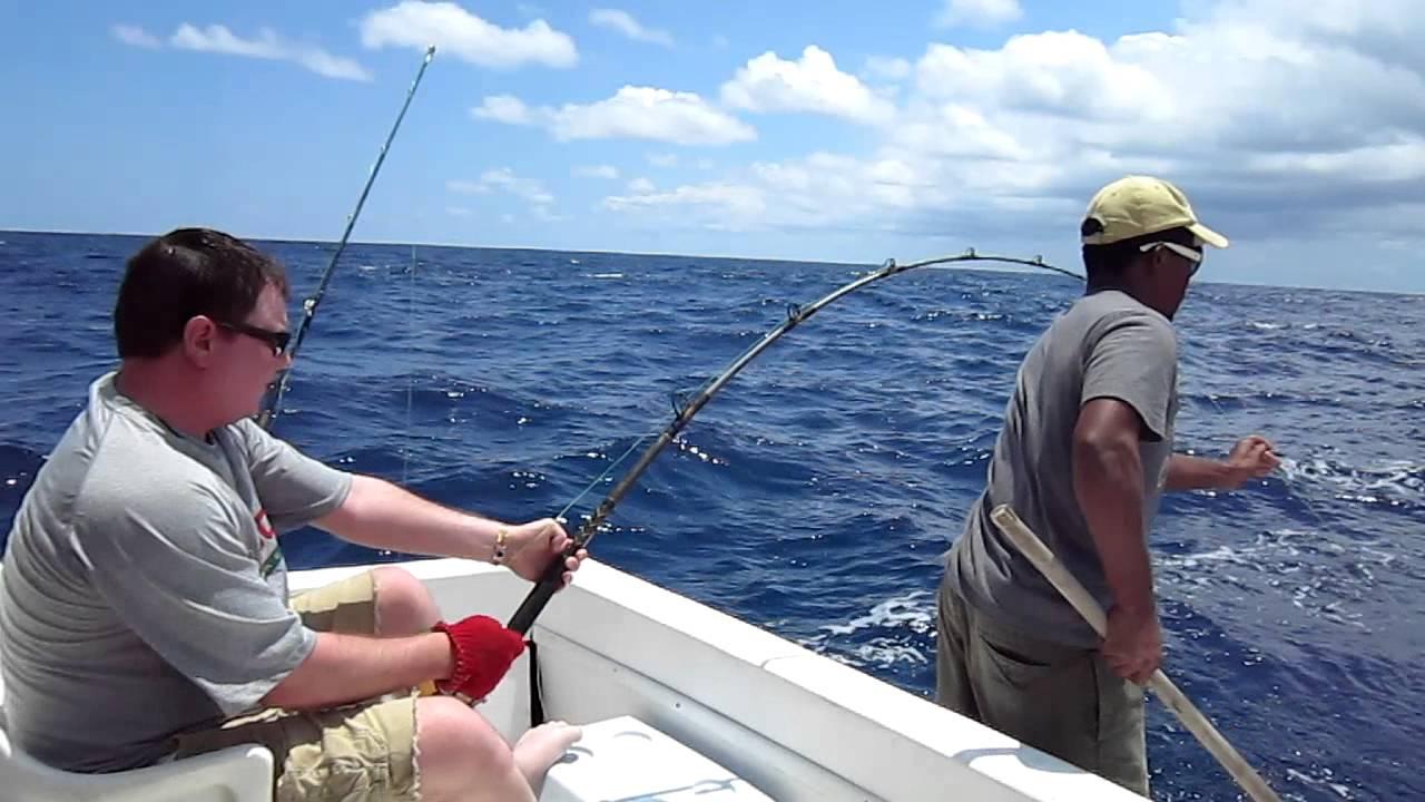 Deep sea fishing punta cana catching a marlin youtube for Punta cana fishing