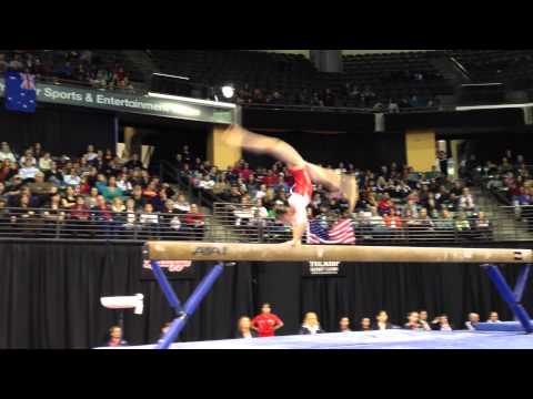Sakura Yumoto - Balance Beam Finals - 2012 Kellogg&#039;s Pacific Rim Championships