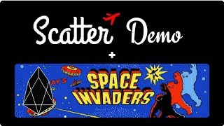 EOS Scatter Demo  - Space Invaders - EOS App Live Demo
