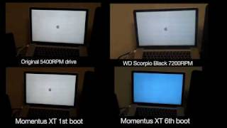 Seagate Momentus XT - boot up comparison