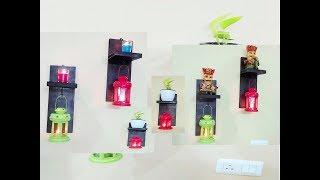 DIY wall shelf | how to make wall shelf lamp | diwali decoration idea 2018 | balcony decoration idea