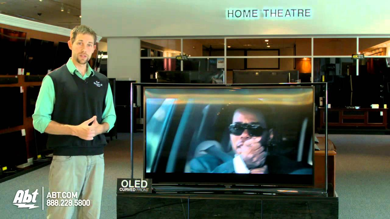 Samsung KN55S9 First Look Largest Curved OLED TV At Abt