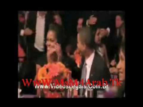 غيرة زوجة أوباما , وضربه بطبق على رأسه WwW.MsM4Arab.Com