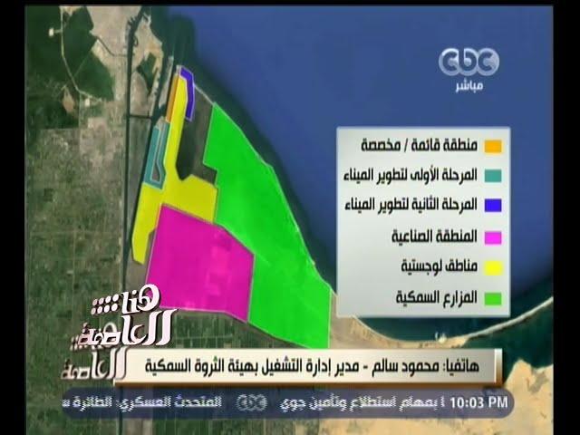 #هنا_العاصمة   محمود سالم : تنمية الثروة السمكية ضمن مشروع #شرق_بورسعيد سيسهم في تخفيض أسعار الأسماك