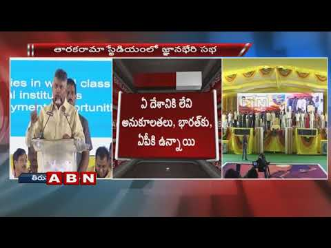 CM Chandrababu Naidu Speech at 'Gnanabheri' Sabha In Tirupati | Part 2