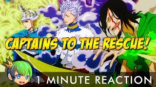 The Captains to the Rescue | Black Clover Episode 36 | 1 Minute Reaction