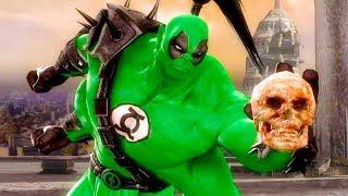 Mortal Kombat Komplete Edition - Green Lantern Deadpool Goro & The Flash Tag Ladder Playthrough
