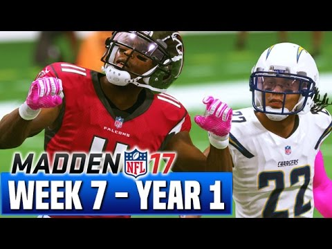 Madden 17 Chargers Franchise Year 1 - Week 7 @ Falcons - Ep.8