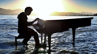 Dubstep Piano on the lake - Radioactive - With William Joseph - 4K