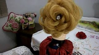 Penteado rosa perfeita - passo a passo -  Perfect rose hairstyle - step by step