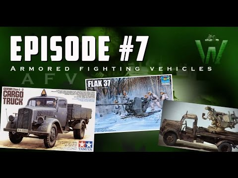 Tutorial: D.A.K. Opel Blitz & Flak37 diorama by Jose Moral | Warfare in Scale