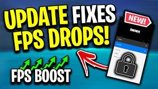 NEW *SECRET* Fortnite Update Fixes The FPS Stutters/Drops! (How To Install)