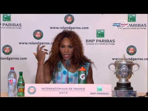 (French Open 2013) Serena Williams Full Press Conference After The Final
