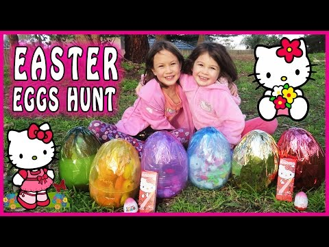 HELLO KITTY SURPRISE EGG HUNT Hello Kitty Toys. Hello Kitty Easter Eggs. Hello Kitty Egg Surprise