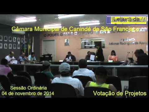 Sessão Ordinária de 04/11/2014 - Canindé de S. Francisco-Sergipe