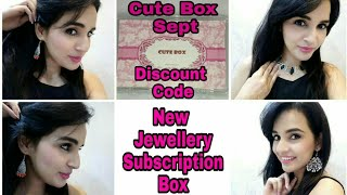 *NEW Cute Box | Jewelry Subscription @399 | Discount Code | Unboxing & Review | Giveaway Open ❤