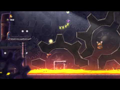 Rayman Legends Walkthrough Origins 5: Maquinaria pesada - All Teensies/Todos los diminutos