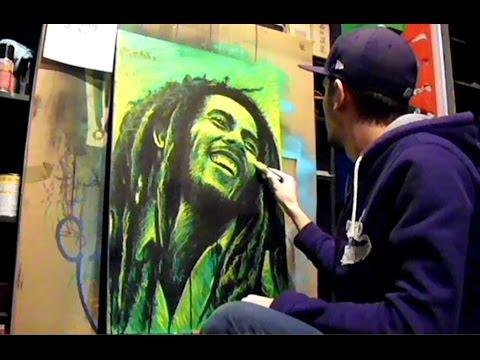 Bob Marley timelapse painting by johanart.cz