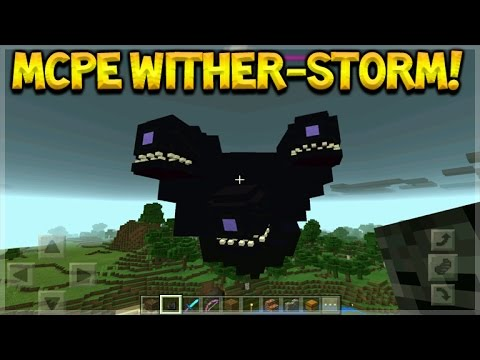 HOW TO SPAWN WITHER STORM IN MCPE - Minecraft Pocket Edition - Wither-Storm Mob!