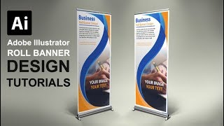 How to Make a Roll Banner Using Adobe Illustrator #FreeDownloads