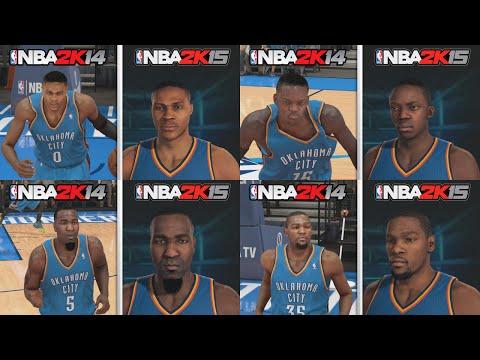 NBA 2K15 Graphics Comparison. OKC Thunder Roster! NBA 2K15 vs NBA 2K14