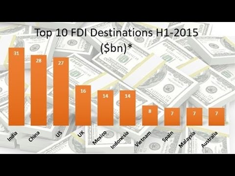 India Beats USA And China As No. 1 FDI Position - A Big Success For Make In India 22 April 2016