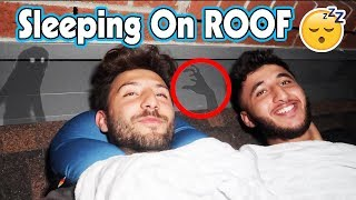(HAUNTED?!) I SPENT THE NIGHT ON A ROOF | OVERNIGHT CHALLENGE ON A ROOF (SLEEP ON A ROOF CHALLENGE)