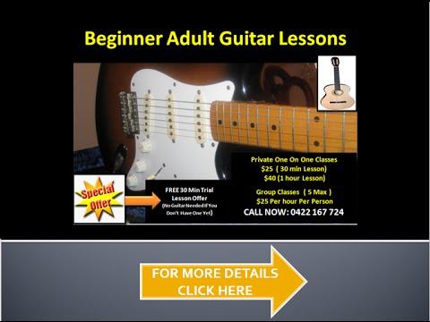 Beginner Adult Guitar Lessons Perth 0422 167 724