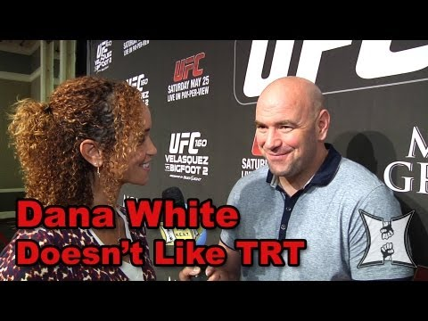 Dana White on UFC 160 Vitors TRT Use Nate Diazs Tweet Suspension  Mark Hunts Record