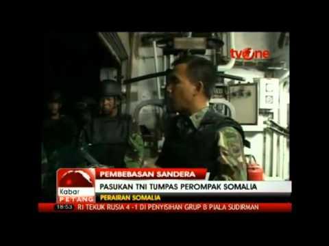 pasukan TNI TUMPAS PERAMPOK SOMALIA