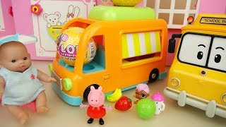Picnic bus baby doll and friends picnic car play