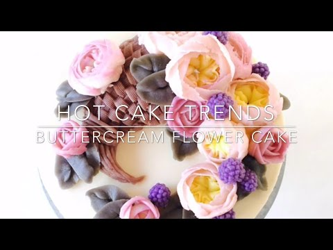 HOT CAKE TRENDS 2016! Buttercream horn of plenty / Cornucopia cake - How to make by Olga Zaytseva