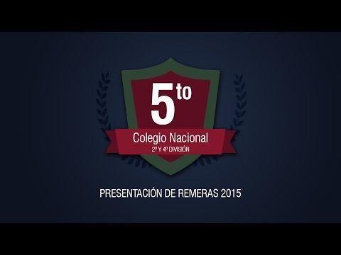 Colegio Nacional - Presentación de Remeras 2015 / Trailer /