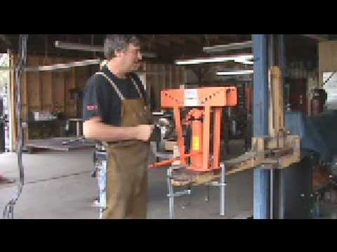 Using a Hydraulic Pipe Bender to Make a Metal Tree
