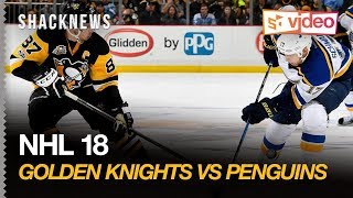 NHL18 Golden Knights Vs Penguins Exclusive Gameplay