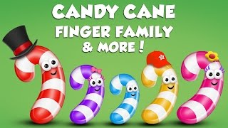 Candy Cane Finger Family Collection | Top 10 Finger Family Collection | Finger Family Songs