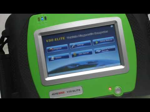 AUTOBOSS V30 Elite Super Scanner Check and  Test Video