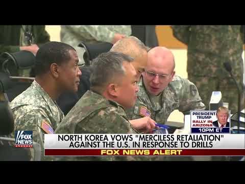 North Korea Vows Merciless Retaliation In Response To Drills
